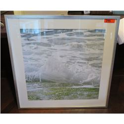 Framed & Matted Photographic Image (White Tide), Signed by Artist Doreen Decald