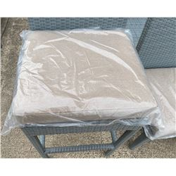 Qty 6 New Sunbrella Seat Cushions, Sand Color (Chairs Shown in Photos NOT INCLUDED)