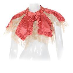 Queen Alexandra of Denmark satin and lace collar.