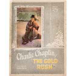 Charlie Chaplin The Gold Rush program and herald from Grauman's Egyptian Theatre, Hollywood.