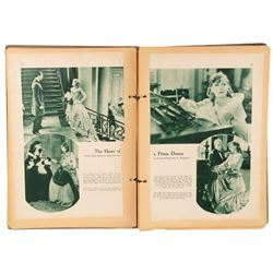 Greta Garbo's (2) personal scrapbooks 1-created by Garbo, 1-created by MGM for Queen Christina.