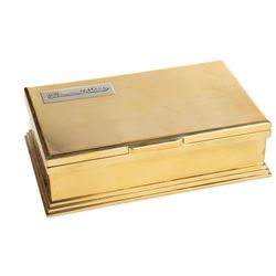 Paramount Studio solid brass Executive cigar humidor.