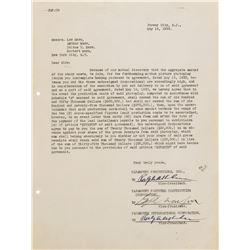 The Marx Brothers signed contract for Duck Soup.