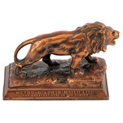 MGM Lion bronzestudio desk paperweight.