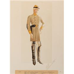 Walter Plunkett original costume sketch of Leslie Howard as 'Ashley Wilkes' from Gone With the Wind.