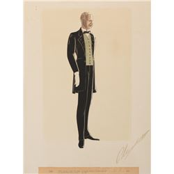 Walter Plunkett costume sketch of Oscar Polk as 'Pork' from Gone With the Wind.