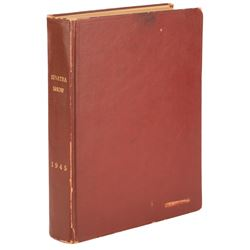 The Frank Sinatra Show (Frank Sinatra in Person) radio show book bound scripts from Al Schwartz.
