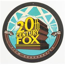 Vintage 20th Century Fox metal studio sign.