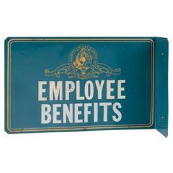 MGM 'Employee Benefits' studio sign.