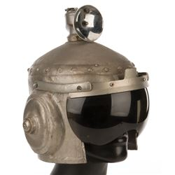 Futuristic helmet from The Outer Limits Episode: 'Soldier' also by Robin Williams on Mork & Mindy.