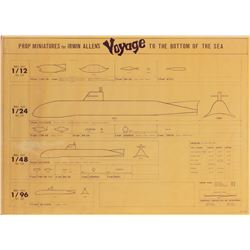 Voyage to the Bottom of the Sea (7) miniature blueprints and schematics.