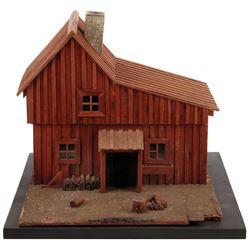 Art Director Matt Jefferies-built 'Ingalls' home miniature mock-up from Little House on the Prairie.