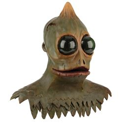 'Sleestak' master model mask from Sid & Marty Krofft's Land of the Lost created ca. 2000.