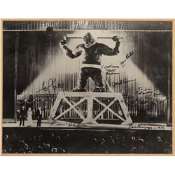 King Kong oversize photo signed by Merian C. Cooper, Fay Wray and other related notables.