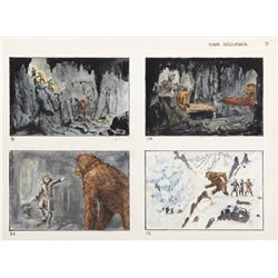 151. Original Willis O'Brien storyboard artwork for Baboon: A Tale About a Yeti.