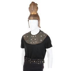 'Guard' hero helmet and studded collars/belt from Flash Gordon Conquers the Universe.