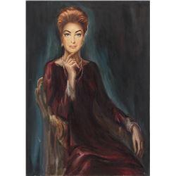 Jaroslav 'Jerry' Gebr original painting of Joan Crawford from the Spielberg-directed Night Gallery.