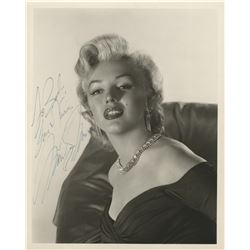 Marilyn Monroe extraordinary signed photograph.