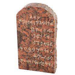 Miniature 'Ten Commandments' tablet from The Ten Commandments.
