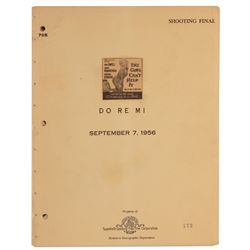 Jayne Mansfield's copy of the script with working title: 'Do Re Mi' for The Girl Can't Help It.