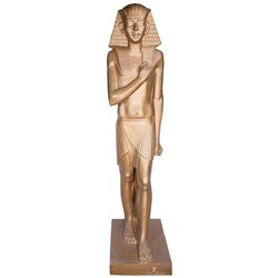 Large golden male statue from Cleopatra.