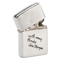 Steve McQueen personal crew gift zippo lighter from director John Sturgis for The Great Escape.