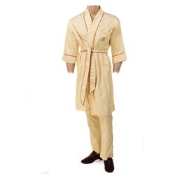 Roger Moore 'James Bond' monogramed pajamas ensemble from Live and Let Die.