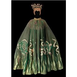 Jane Seymour 'Solitaire' signature psychic medium cape and headdress fromLive and Let Die.