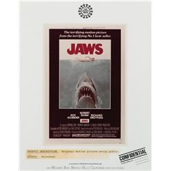 Jaws confidential agency poster sample.