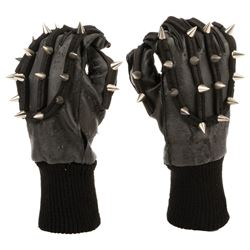 Rollerball (2) original iconic skater's gloves with multiple metallic spiked studs.