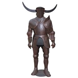 David Prowse 'Black Knight' armor on life-size figure display from Jabberwocky.