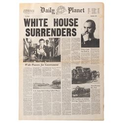'White House Surrenders' Daily Planet prop newspaper from Superman II.