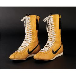 Sylvester Stallone 'Rocky Balboa' yellow boxing boots from Rocky III.
