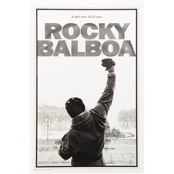 'Rocky Balboa' limited edition poster from the collection of Sylvester Stallone.