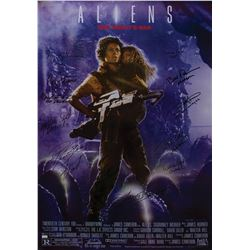 Aliens 1-sheet poster signed by the cast.