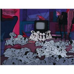 'Dalmatian Pups' production cel on a matching production background from 101 Dalmatians.
