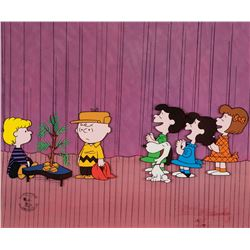 Peanuts limited edition cel entitled 'Dress Rehearsal' from A Charlie Brown Christmas.
