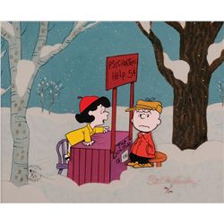 Peanuts limited edition cel entitled 'Friendly Advice' from A Charlie Brown Christmas.