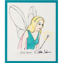 'Blue Fairy' drawing by Frank Thomas and Ollie Johnston from Pinocchio.