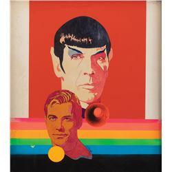 Original Bob Peak Star Trek artwork for 'Spock' and 'Capt. Kirk' for 1967 TV Guide.