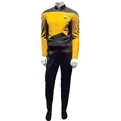 Brent Spiner 'Lt. Commander Data' tunic from Star Trek: The Next Generation.