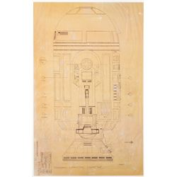 R2-D2 full-scale production blueprint from Star Wars: Episode IV - A New Hope.