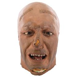 Tom Branch 'Hatay Soldier' severed head prop from Indiana Jones and the Last Crusade.