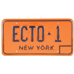 'Ecto-1' license plate from Ghostbusters.
