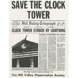 'Save the Clock Tower' flyer from Back to the Future.