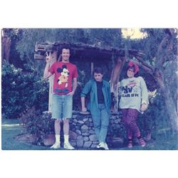 Original prop photograph of McFly children from Back to the Future.