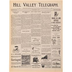 September 4, 1885 'Hill Valley Telegraph' prop newspaper from Back to the Future III.