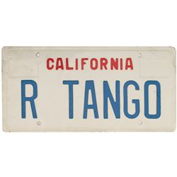 Sylvester Stallone 'Tango' License Plate from Tango & Cash.