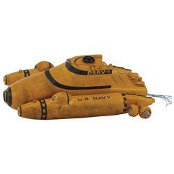 Submarine model miniature from DeepStar Six.
