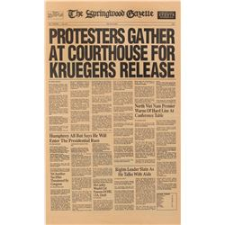 'The Springwood Gazette' prop newspaper from A Nightmare on Elm Street.